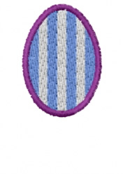 Vertical Striped Egg embroidery design