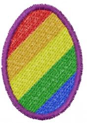 Diagonal Rainbow Egg embroidery design