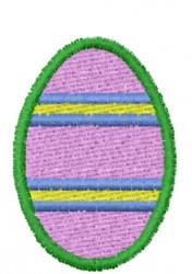 Multi Stripe Egg embroidery design