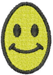 Smiley Egg embroidery design