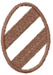 Wide Stripe Egg Outline embroidery design