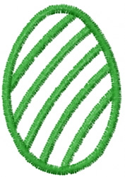 Diagonal Stripe Egg Outline embroidery design