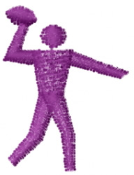 Quarterback Pictograph embroidery design