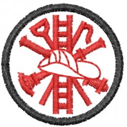 Fire Department 4 embroidery design
