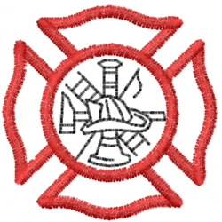 Fire Department 8 embroidery design