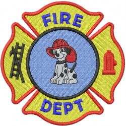 FIRE DEPARTMENT SIGN embroidery design