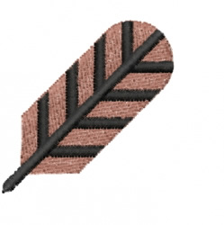 Feather-1 embroidery design