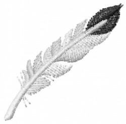Feather-7 embroidery design
