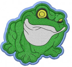 Frog – double outlines embroidery design