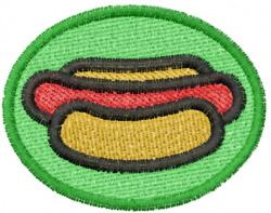 Hot Dog Logo embroidery design