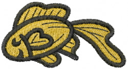 Comic Goldfish embroidery design