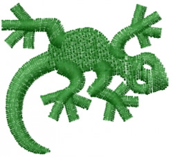 Gecko 2 embroidery design