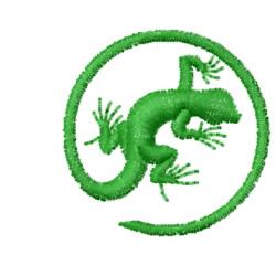Gecko 5 embroidery design