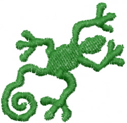Gecko 10 embroidery design