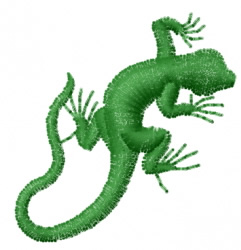 Gecko 12 embroidery design
