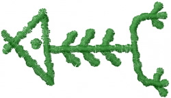 Hawaiian Glyph 11 embroidery design