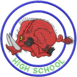 RAZORBACK HIGH SCHOOL embroidery design