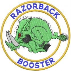 RAZORBACK BOOSTER embroidery design