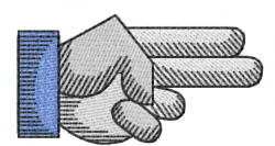 Hands 12 embroidery design