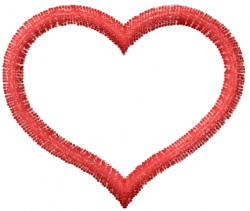 Heart 13 embroidery design