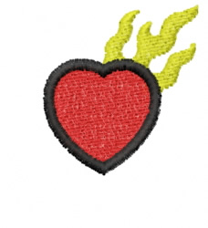Heart 20 embroidery design
