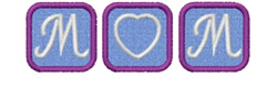 MOM - HEART IN BLOCKS embroidery design