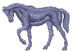Horse - Mini Silhouette embroidery design