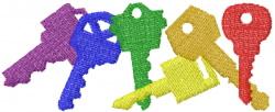 Keys 15 embroidery design