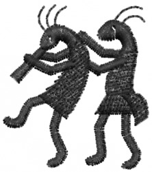 Kokopelli 5 embroidery design