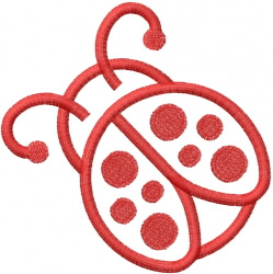 BIG LADYBUG OUTLINE embroidery design