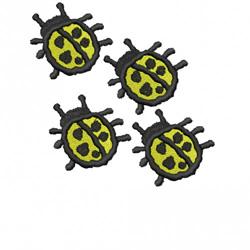 FOUR LADYBUGS embroidery design