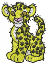 Leopard 6 embroidery design