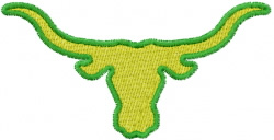 Longhorn 7 embroidery design