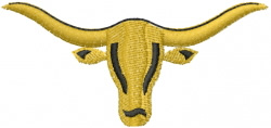 Longhorn 10 embroidery design