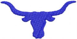 Longhorn 11 embroidery design