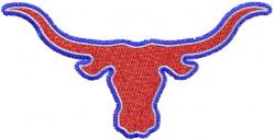 Longhorn 12 embroidery design