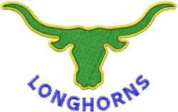 Longhorn Steer embroidery design