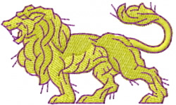 Lion 3 embroidery design