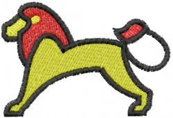 Lion 6 embroidery design