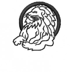 Lion 18 embroidery design