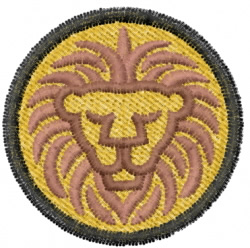 Lion 20 embroidery design