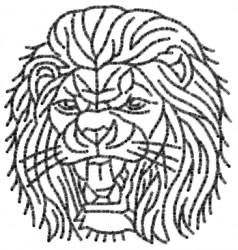 Lion 25 embroidery design