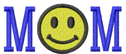 Mom Smiley Face embroidery design