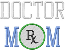 Doctor Mom embroidery design
