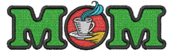 Mom Coffee Cup embroidery design