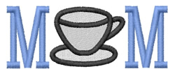 Coffee Cup Mom embroidery design