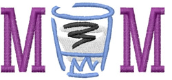 Mom Shot Glass embroidery design