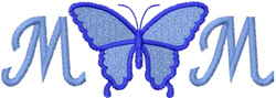 Mom Butterfly embroidery design