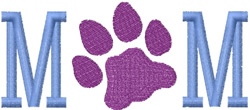 Paw Print Mom embroidery design