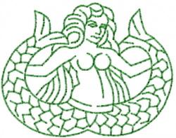 Mermaid 6 embroidery design